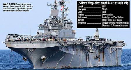 США на Олимпиаде 2012 в устье Темзы поставит авианосец