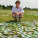 Инсталляции художника Брюса Мунро из использованных CD дисков