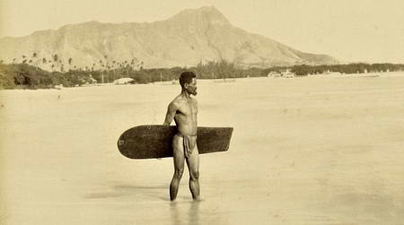 Серфинг был еще в 1890 году? Фотодокумент с Гавайев