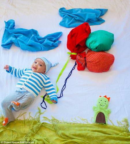 Любящие родители создают картинки, где герой их 4-х месячный сын