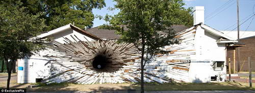 """Архитектурный стиль """"Взрыв дома"""""""