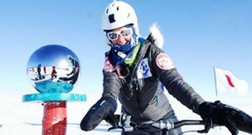 Хелена Скелтон на Южном полюсе