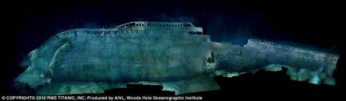 Вид Титаника на дне (компьютерная обработка)