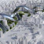 Архитектурный проект в виде извивающегося дракона района Сучжоу-Крик Шанхая