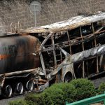 Столкновение автобуса и танкера с метанолом: 36 заживо сгоревших