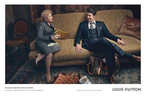 Лариса Латынина и Майкл Фелпс в рекламе Louis Vuitton