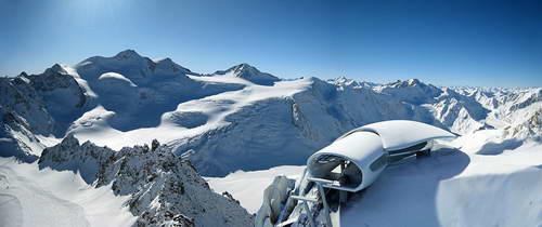 Австрия, Альпы кафе на высоте 3 тысяч метров
