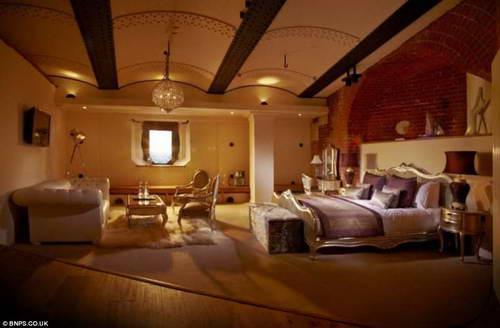 Спальня в отеле форта Spitbank