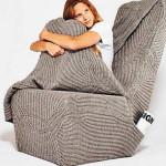 Дизайнерское кресло, в которое можно укутаться, как в одеяло