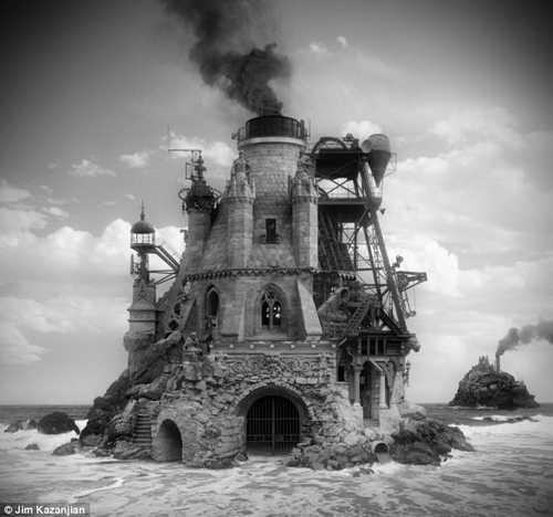 Цифровые фотографии фантазии архитектора