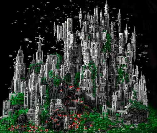 Фанат лего за 600 часов построил город пришельцев из 200 тысяч элементов