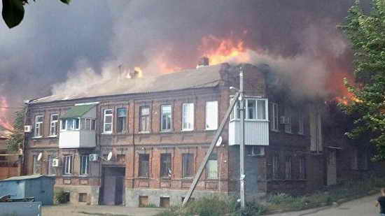 Пожар в Ростове сегодня 21 августа 2017