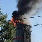 Пожар в Ростове сегодня 21.09.2017. Горит бизнес-центр