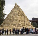 Самый большой песочный замок построили в Германии