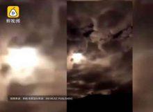 Крупный астероид взорвался в небе над Китаем