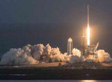 После запуска Falcon 9 первая ступень при посадке загорелась