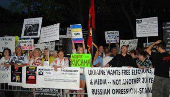 Украинская диаспора не пришла на встречу с Януковичем