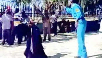 Шокирующие кадры истязания полицией женщины в Судане