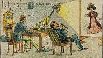 Серия почтовых открыток Франции 1910 года о прогрессе в 2000 году