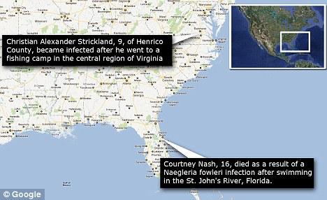 Карта заражения жертв