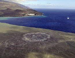 Около острова Эль Йерро, Канары началось извержение подводного вулкана