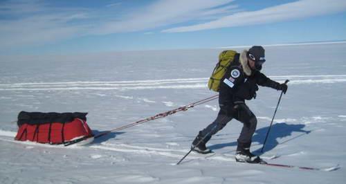 Марк Вуд на Южном полюсе