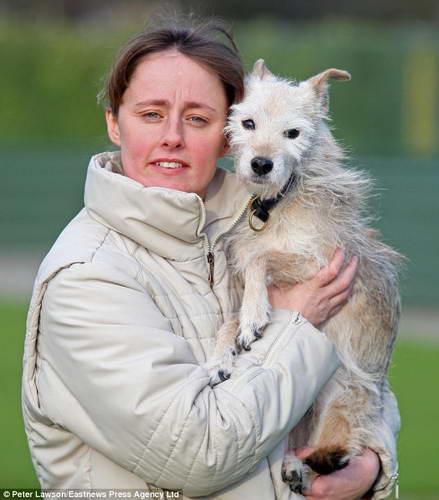 Собака Пипа и хозяйка Тиффани