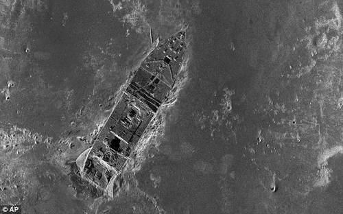 План лежащего на дне Титаника