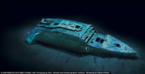 Нос Титаника на дне (компьютерная обработка)