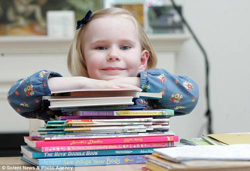 4-летняя Хайди Хэнкинс с IQ 159