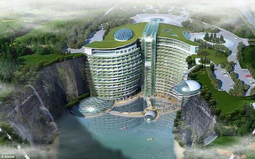 Китай отель в карьере