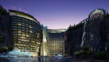 Китай: архитекторы раскрыли планы дизайна отеля в отработанном карьере