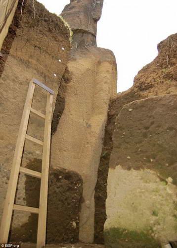 Раскопки идолов на Острове ПасхиРаскопки идолов на Острове Пасхи