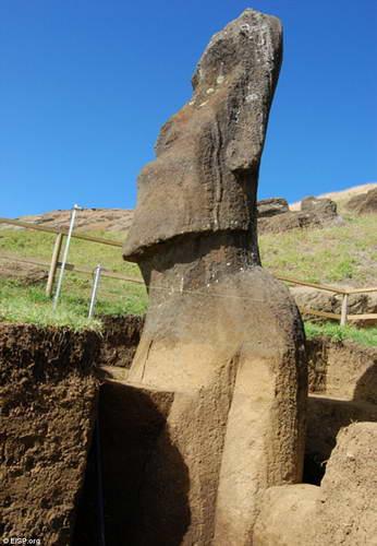 Раскопки идолов на Острове Пасхи