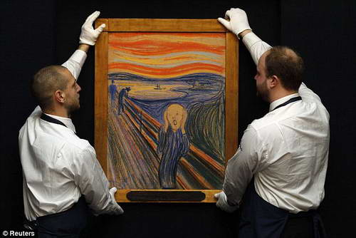 Картина Крик Мунка на аукционе Сотбис