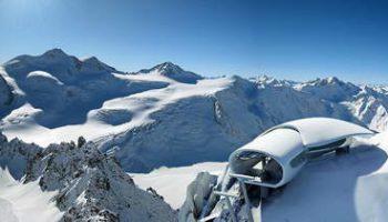 Кафе в горах Австрии на высоте 3 тысячи метров