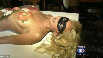 В ресторане Флориды подают суши на обнаженной женщине за $500
