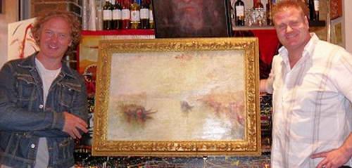 Кристиан Фурр с найденной картиной Джозефа Тёрнера