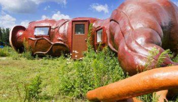 Художник построил отель в виде желудка: от желающих переночевать нет отбоя