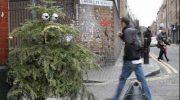 Художник Дин Стоктон из Лондона дал вторую жизнь выкинутым новогодним елкам