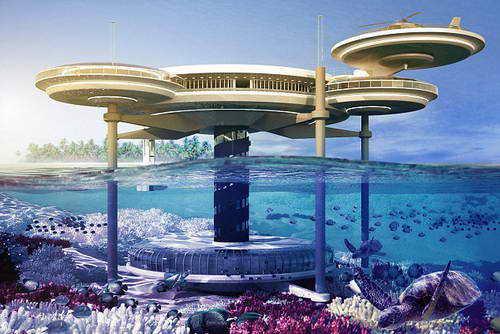 Проект подводного отеля в Дубаи