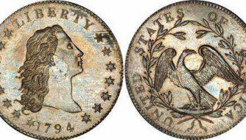 На аукционе продан редчайший серебряный доллар 1794 года за $10 миллионов