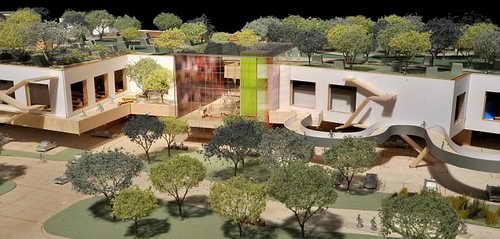 Штаб-квартира Facebook архитектора Фрэнка Гери