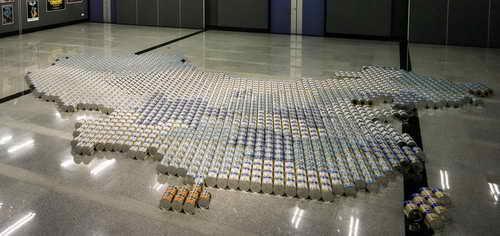 Карта Китая из банок сухого молока - Ай ВэйВэй