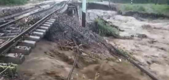 Ливни и наводнение в Приморье, размыт Транссиб