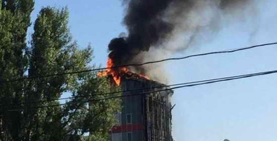Пожар в Ростове