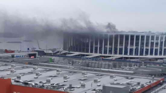 Пожар. Горел стадион Нижний Новгород