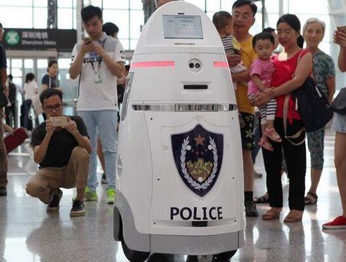 Робот полицейский в Китае