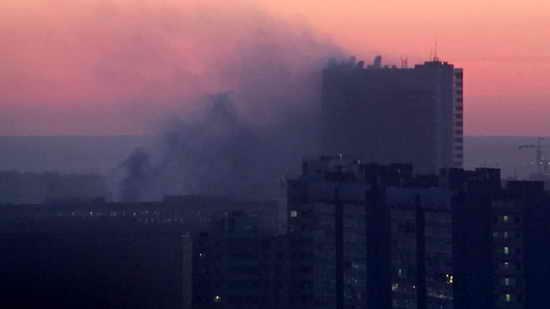 Пожар в здании Службы внешней разведки