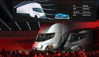 Tesla презентовала электро грузовик Semi Truck с дальностью хода 800 км